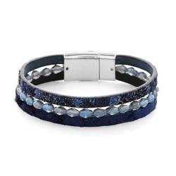 Bracelet Fashion Bleu Nuit Aimanté