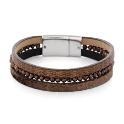 Bracelet Fashion Marron Aimanté