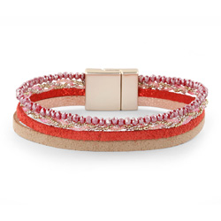 Bracelet Fashion Rouge Aimanté