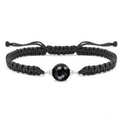 Bracelet Estela en Acier et Pierre Naturelle à Facettes 8MM - Onyx