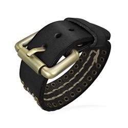 Bracelet Ceinture Mixte Cuir Noir