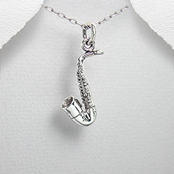 Pendentif Saxophone en Argent