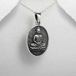Pendentif  Médaillon Bouddha en Argent