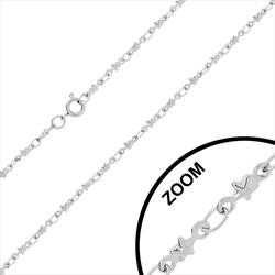 Chaîne / Collier en Acier Maille Étoile 2.2mm / 40cm