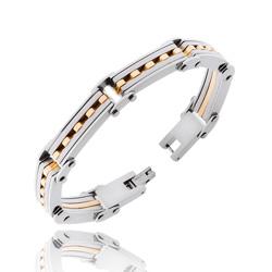 Bracelet Homme en Acier Doré