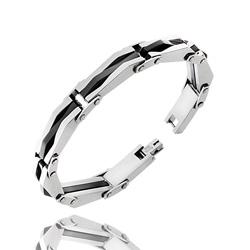 Bracelet Homme en Acier ondulé 2 Couleurs