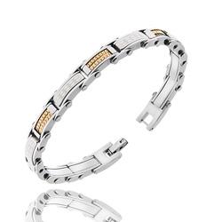 Bracelet Homme en Acier et Chaîne doré