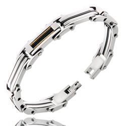 Bracelet Homme en Acier et Câble