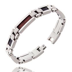 Bracelet Homme Acier Câble 2 Couleurs
