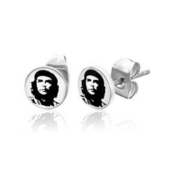 Boucles d'oreille Che Guevara en Acier 7mm