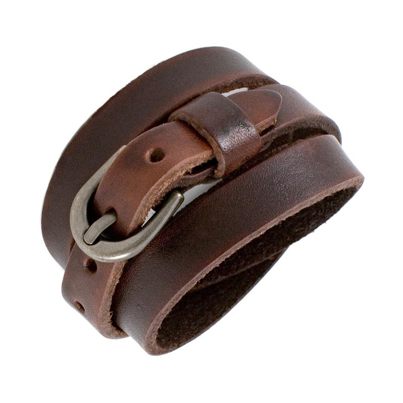 bracelet ceinture en cuir marron. Black Bedroom Furniture Sets. Home Design Ideas
