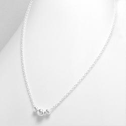 Collier en Argent 3 Perles d'Argent