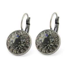 Boucles d'Oreilles Dormeuse en Cristal Black Diamond