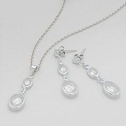Parure en Argent et Diamant CZ Blanc