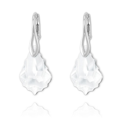 Boucles Baroque en Argent et Cristal Crystal