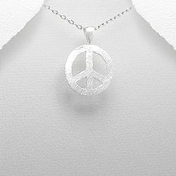 Pendentif Peace and Love en Argent 925
