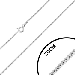 Chaîne en Argent Maille Popcorn Fantaisie 1.2mm / 45cm