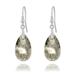 Boucles Goutte en Argent et Cristal Silver Shade