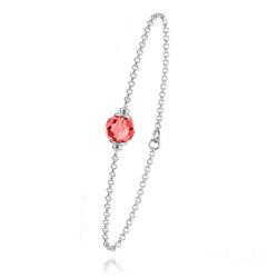 Bracelet en Argent et Perle Rouge Light Siam