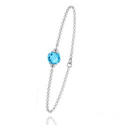 Bracelet en Argent et Perle Bleue