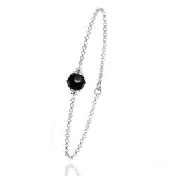 Bracelet en Argent et Perle Noire