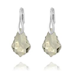 Boucles Baroque en Argent et Cristal Silver Shade