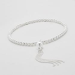 Bracelet Perles et Chaînettes en Argent
