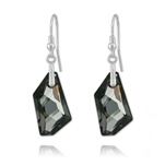 Grossiste Boucles De-Art 24mm en Argent et Cristal Silver Night