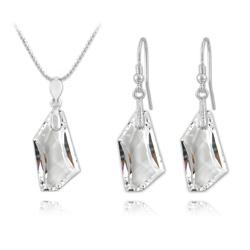 Parure en Cristal et Argent Parure De-Art en Argent et Cristal Blanc