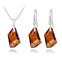 Parure en Cristal et Argent Parure De-Art en Argent et Cristal Crystal Copper