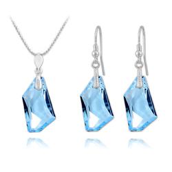 Parure en Cristal et Argent Parure De-Art en Argent et Cristal Bleu
