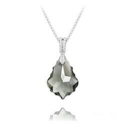 Collier Baroque 22mm en Argent et Cristal Black Diamond