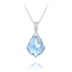 Collier Baroque 22mm en Argent et Cristal Bleu