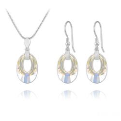 Parure en Cristal et Argent Parure Helios en Argent et Cristal Aurore Boréale