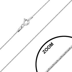 Cha�ne en Argent Maille Cardano Carr�e 0.6mm / 42cm