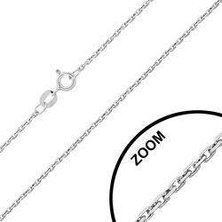 Chaîne en Argent Maille Forçat 1.5mm / 40cm