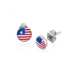 Boucles d'Oreilles en Acier drapeau USA