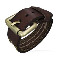 Bracelet Ceinture Marron en Cuir