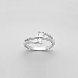 Bague en Argent Diamant CZ Blanc