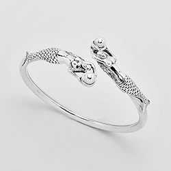 Bracelet en Argent 2 Sirènes