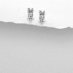 Boucles d'Oreilles en Argent Hiboux