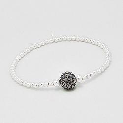 Bracelet en Argent 925 et Cristal Black Diamond
