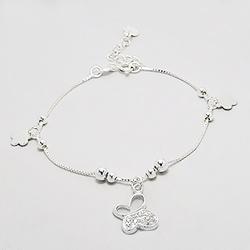 Bracelet Papillon en Argent et Diamant CZ