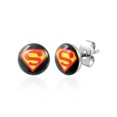Boucle d'oreille superman homme
