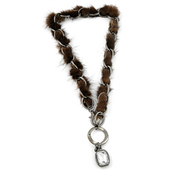 Collier Lizas Plumetis Marron