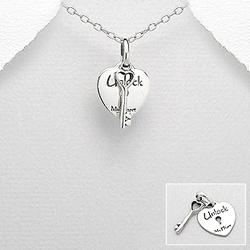 Pendentif 'Unlock My Heart' en Argent