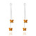 Boucles d'Oreilles Papillon en Argent et Cristal SWAROVSKI ELEMENTS Crystal Copper