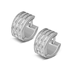 Boucles d'Oreilles en Acier Diamant�
