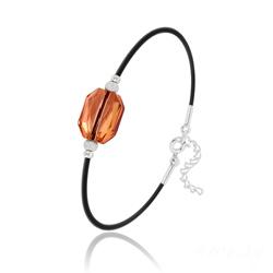 Bracelet Graphic en Argent et Cristal Crystal Copper