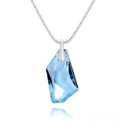 Collier De-Art en Argent et Cristal Bleu